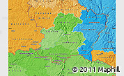Political Shades Map of Luxembourg