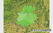 Political Shades Map of Luxembourg, satellite outside