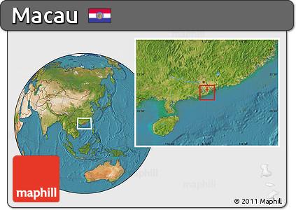 Free Physical Location Map of Macau, satellite outside on map of stars, map of planets, map of computers, map of texas, map of omaha, map of comets,