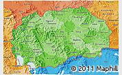 Political Shades 3D Map of Macedonia