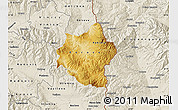 Physical Map of Berovo, shaded relief outside