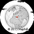 Outline Map of Berovo