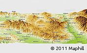 Physical Panoramic Map of Berovo