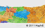 Political Shades Panoramic Map of Berovo