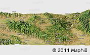 Satellite Panoramic Map of Berovo