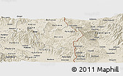 Shaded Relief Panoramic Map of Berovo