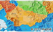 Political Shades 3D Map of Bitola