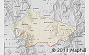 Shaded Relief Map of Bitola, desaturated