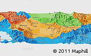 Political Shades Panoramic Map of Bitola