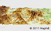 Physical Panoramic Map of Brod