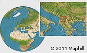 Satellite Location Map of Centar Zupa, highlighted parent region