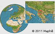 Satellite Location Map of Centar Zupa