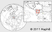 Blank Location Map of Debar