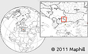 Blank Location Map of Makedonska Kamenica