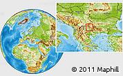 Physical Location Map of Makedonska Kamenica