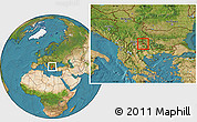 Satellite Location Map of Makedonska Kamenica