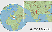 Savanna Style Location Map of Makedonska Kamenica