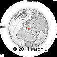 Outline Map of Makedonska Kamenica