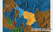 Political Map of Delcevo, darken