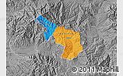 Political Map of Delcevo, desaturated