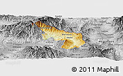Physical Panoramic Map of Delcevo, desaturated