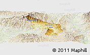 Physical Panoramic Map of Delcevo, lighten