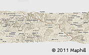 Shaded Relief Panoramic Map of Delcevo