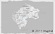 Gray 3D Map of Gostivar, single color outside