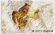 Physical 3D Map of Gostivar, lighten