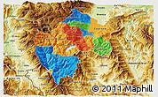 Political 3D Map of Gostivar, physical outside