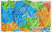 Political Shades 3D Map of Gostivar