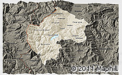 Shaded Relief 3D Map of Gostivar, darken