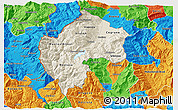 Shaded Relief 3D Map of Gostivar, political outside