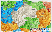 Shaded Relief 3D Map of Gostivar, political shades outside