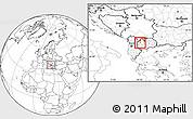 Blank Location Map of Dolna Banjica