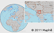 Gray Location Map of Dolna Banjica