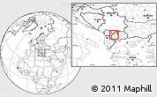 Blank Location Map of Gostivar