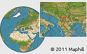 Satellite Location Map of Gostivar