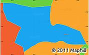 Political Simple Map of Gostivar