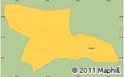 Savanna Style Simple Map of Gostivar