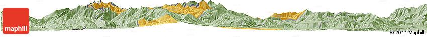 Savanna Style Horizon Map of Gostivar