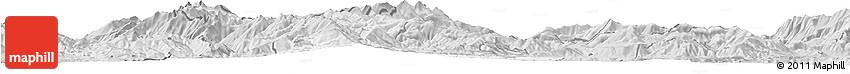 Silver Style Horizon Map of Gostivar