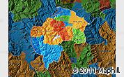 Political Map of Gostivar, darken