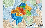 Political Map of Gostivar, lighten