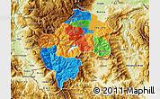 Political Map of Gostivar, physical outside