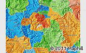 Political Map of Gostivar, political shades outside