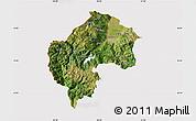 Satellite Map of Gostivar, cropped outside