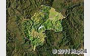 Satellite Map of Gostivar, darken