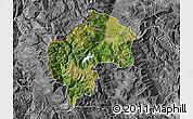 Satellite Map of Gostivar, desaturated