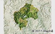 Satellite Map of Gostivar, lighten